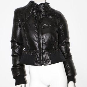 BCBG MAXAZRIA Black Duck Down Puffer Short Jacket